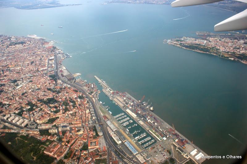 Lisboa e o Tejo desde o céu