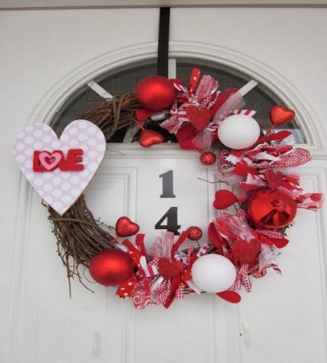 Adornos y decoraciones para san valentin for Decoracion de puertas de san valentin