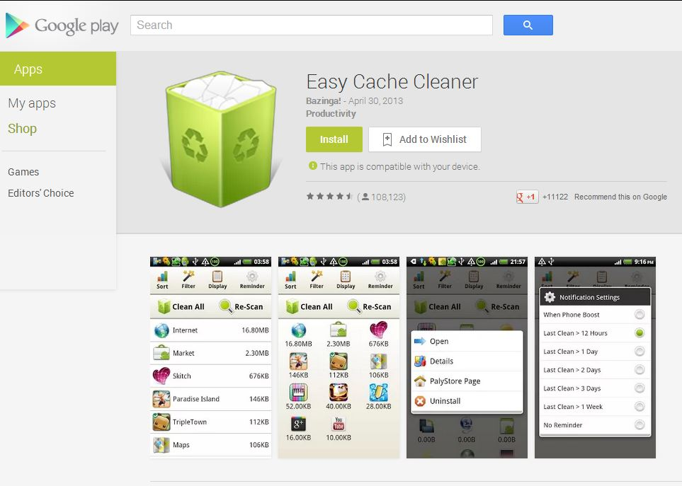 Eacy Cache Cleaner