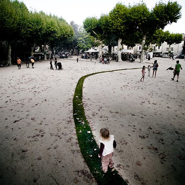 The Never-Ending Grass Pathway in France