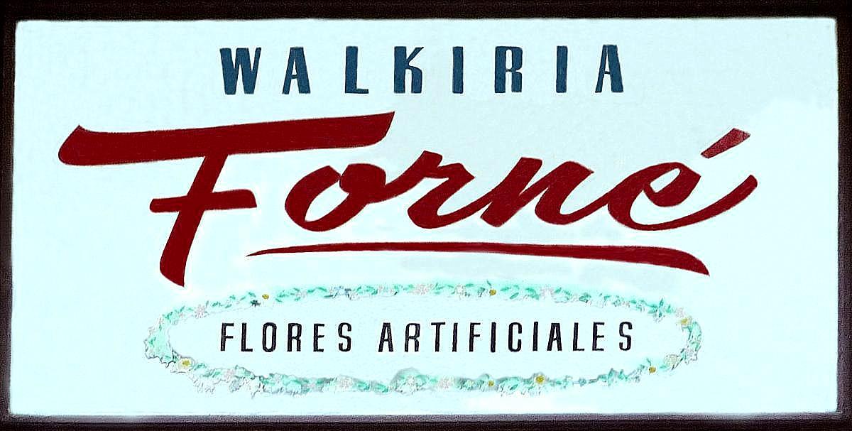 cartel actual del taller y tienda de flores