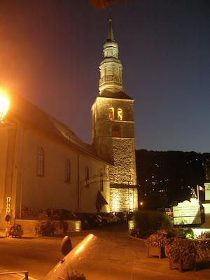Saint-Gervais-les-Bains: campanile della chiesa dei Santi Gervazio e Protasio