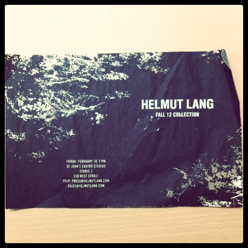 I like this crumpled - distressed look for Helmut Lang.