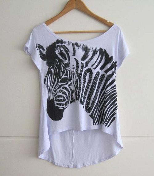 Inspiração zebra - camiseta
