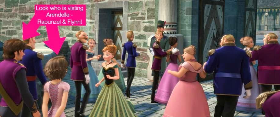 """Frozen """"Easter Egg"""" - Rapunzel & Flynn Visit Arendelle"""