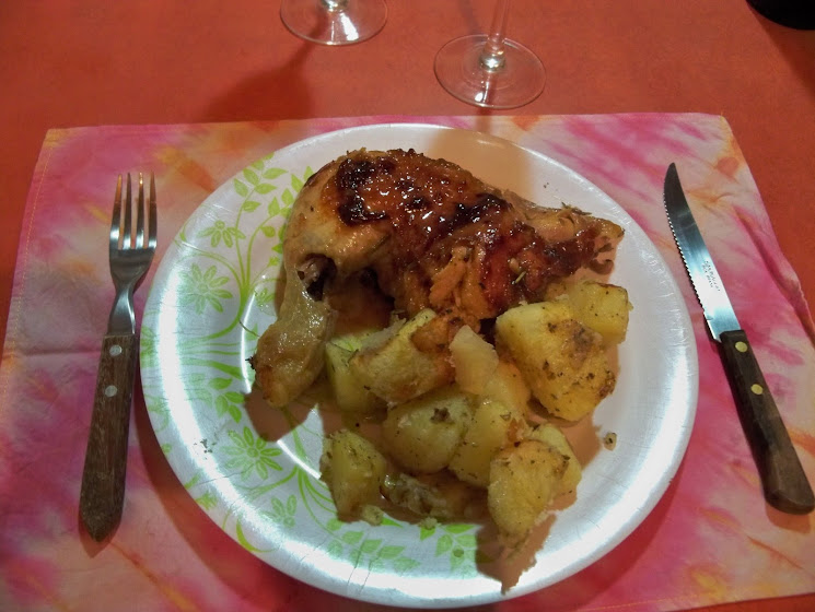 Chicken and potatoes dish