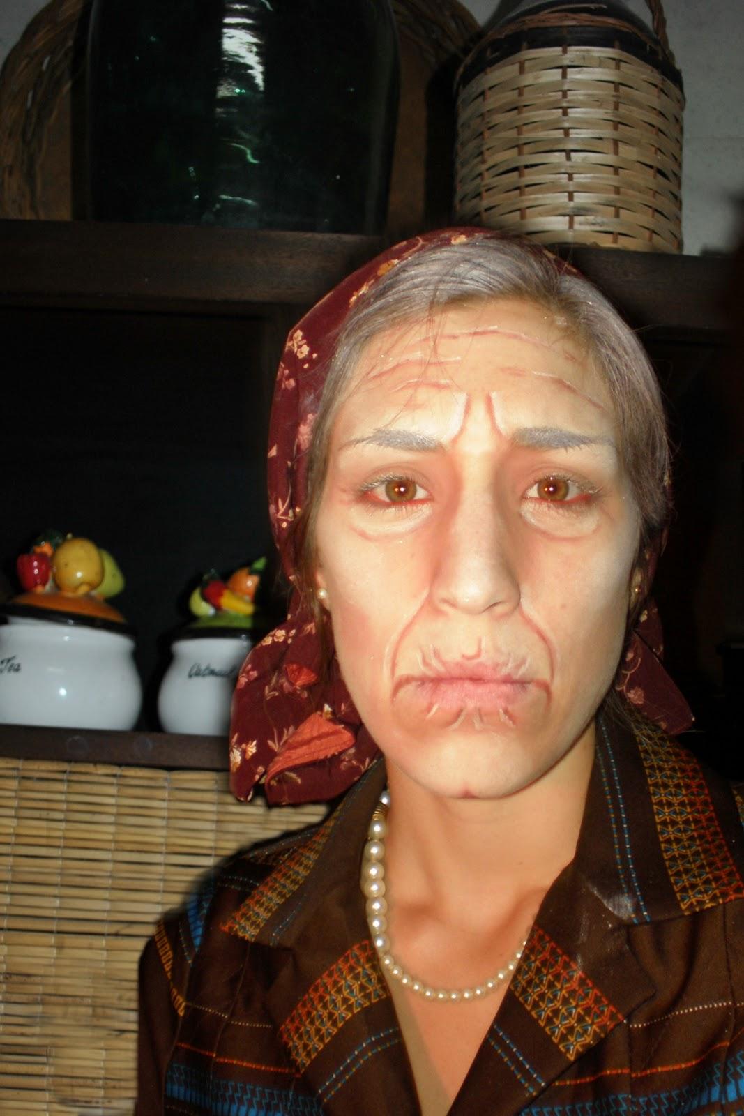 maquillaje de caracterizacion teatral