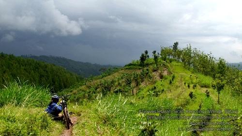 View di Track Gowes Sirah Kencong (Wlingi, Blitar)