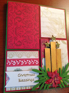 PaperMania First Noel, candle card, acryllic packaging uses, memory box mini poinsettia