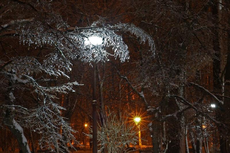iarna zapada Bucuresti fotografie noapte