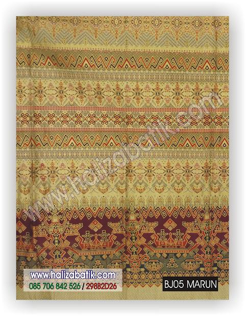 Grosir Batik, Gambar Baju Batik, Toko Online, BJ05 MARUN