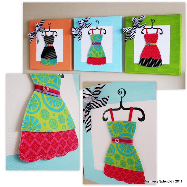Positively Splendid Crafts: Dress-Up Wall Canvas Tutorial