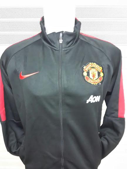 Jual Jaket Manchaster United AON Hitam List Merah 2014-2015
