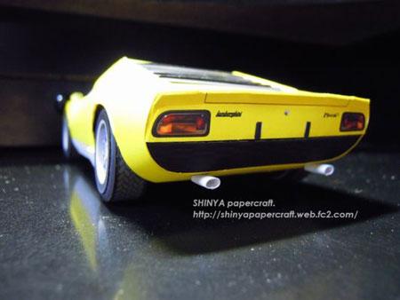 Lamborghini Miura P400 Papercraft