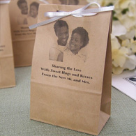 Personalized photo party favor bags