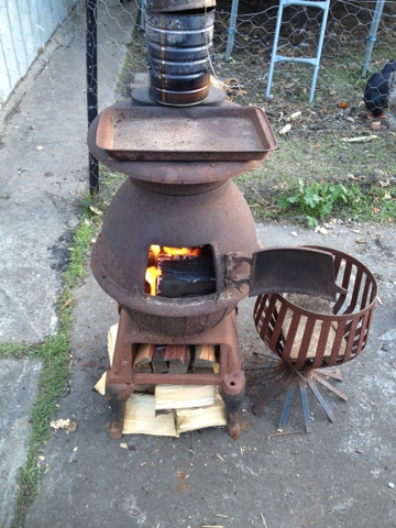 Home Front Pot Belly Stove Restoration