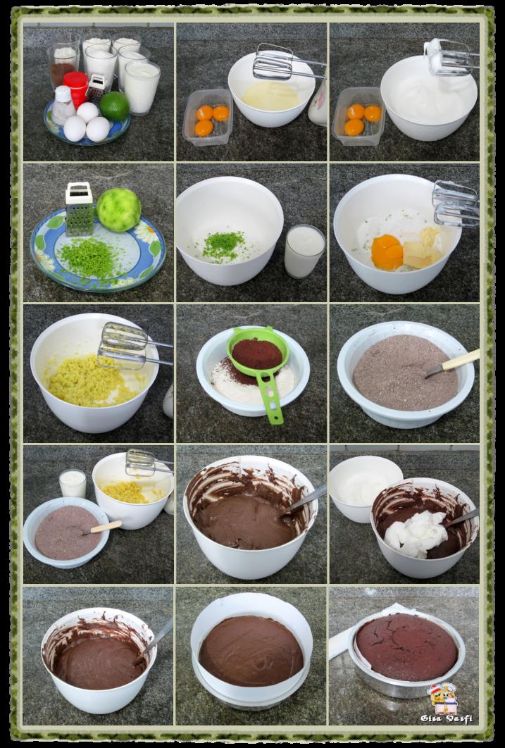 Bolo de chocolate e limão 2