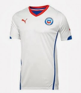 Jersey Chile Away Piala Dunia 2014