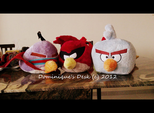 Angry Bird Space plushies