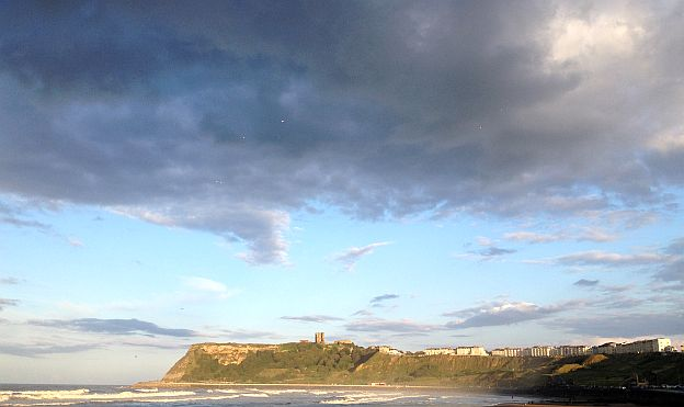 Castle von Scarborough im Sonnenschein