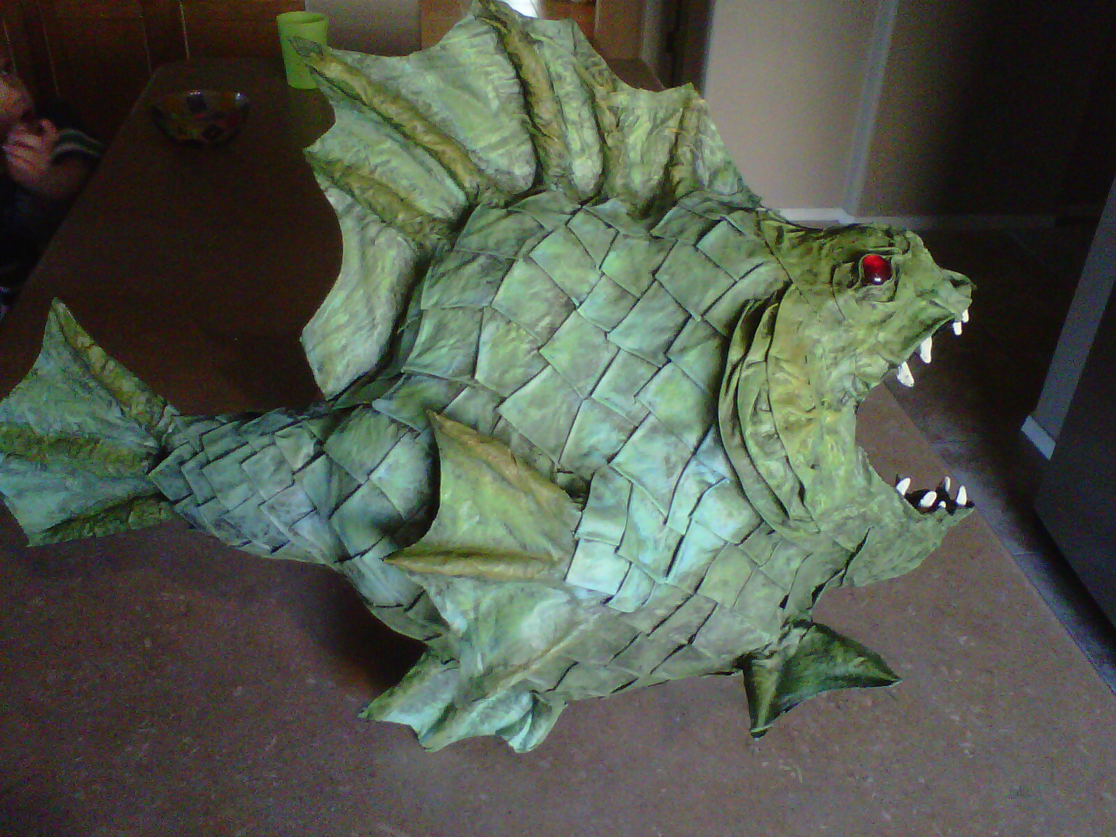 102 wicked things to do 19 scary fish for Things made out of paper mache