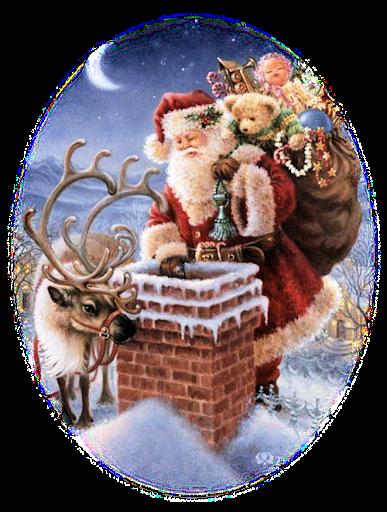 4 Weihnachtsmann (Kamin) - GIF Sammlungen Weihnachten Advent 1