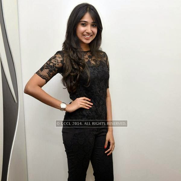 Priya smiles for the lens during the launch of salon 'Essensuals', in Chennai.