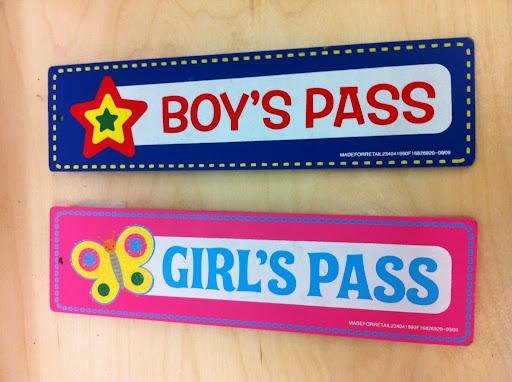 Printable boys bathroom pass