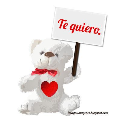 Osito Te Quiero para San Valentín.