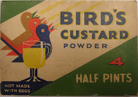 Bird's Custard Powder sachets (1940's)