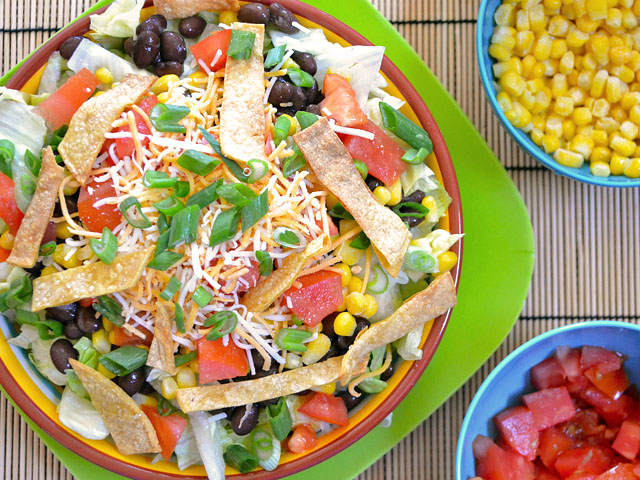 southwest salad with taco ranch