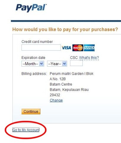 Virtual Bank dengan Paypal
