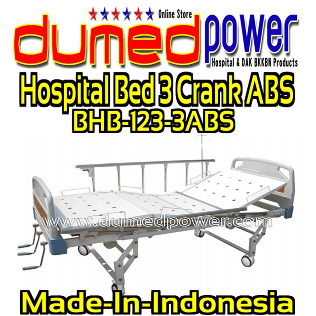 Hospital-Bed-3-Crank-ABS-BHB-123-3ABS