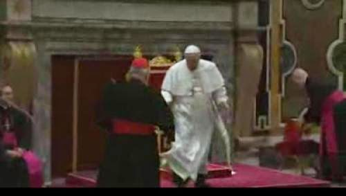 Pope Francis Stumbles