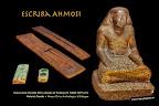 El escriba Ahmosi y tablillas. Cultura egipcia