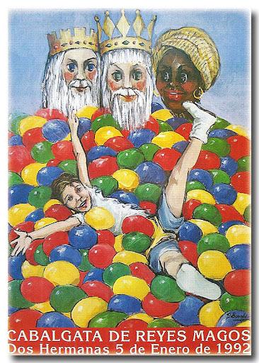Cartel Cabalgata 1992, autora: Blanca Bonad