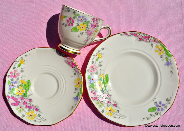 Plant Tuscan teacup, saucer, tea plate c.1936