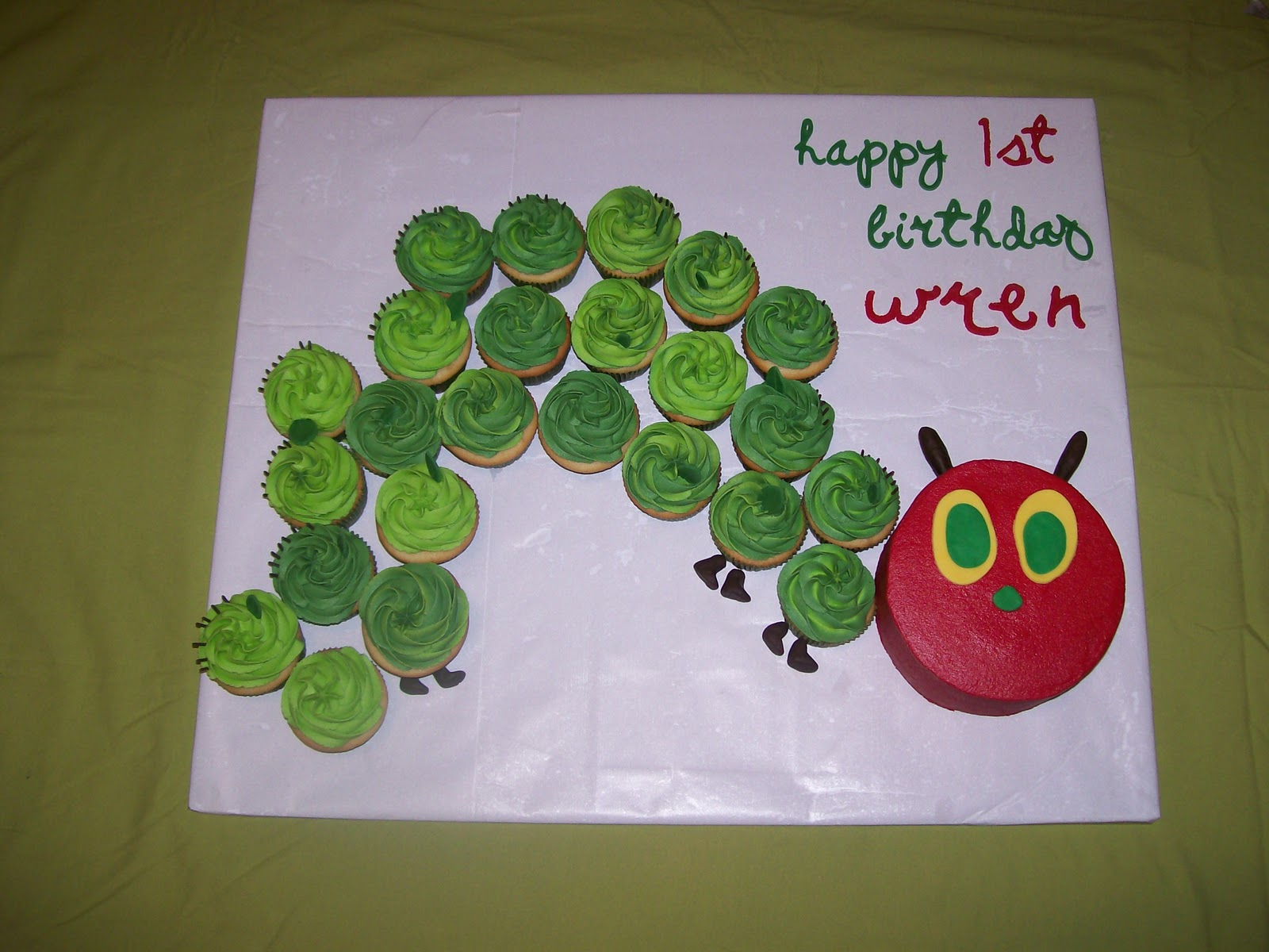 the cake box girls The Very Hungry Caterpillar first