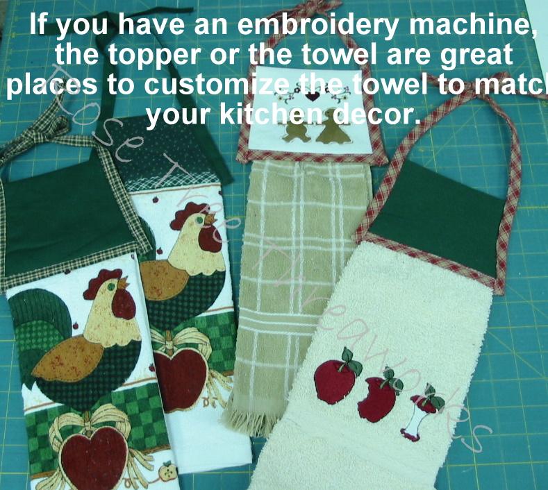 Gramma rose 39 s garden hanging kitchen towel pattern tutorial - Hanging kitchen towel tutorial ...