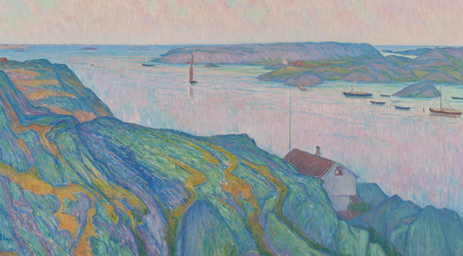 Karl Nordström - Kyrkesund, 1911