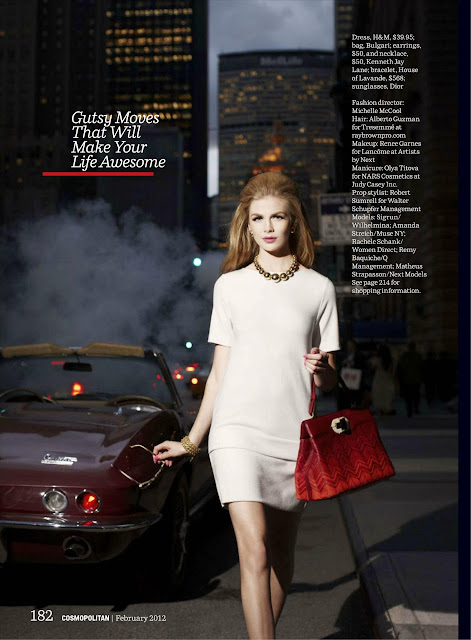 'Cosmo Girls' . Cosmopolitan USA  - febrero 2012