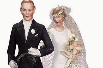 Wedding cake topper - vintage 1920's