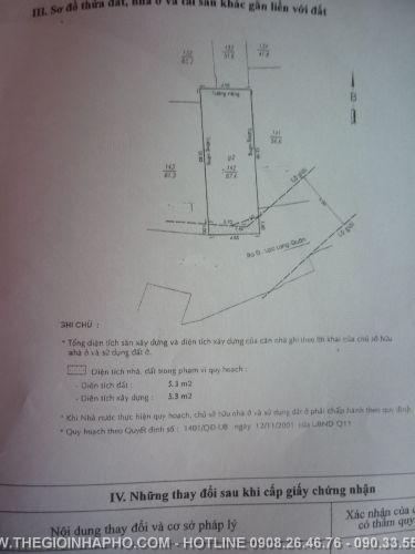 Bán nhà Lạc Long Quân, Quận 11 giá 2, 5 tỷ - NT39