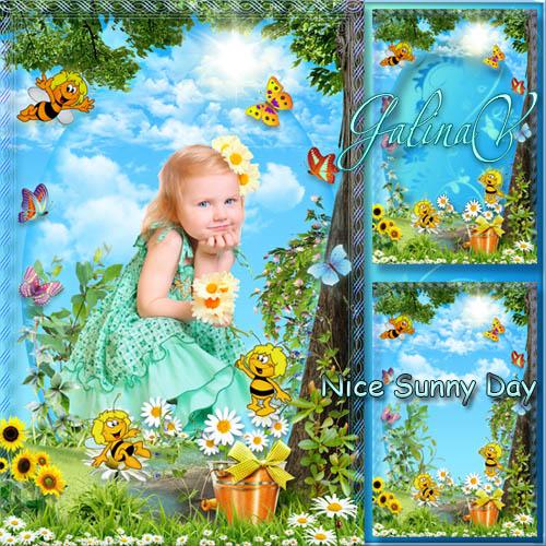 Детская рамка - Солнечный денёк с пчёлами