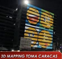 valla 3d mapping de Caracas