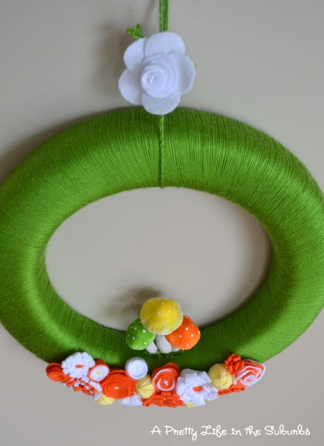 Springtime Yarn Wreath