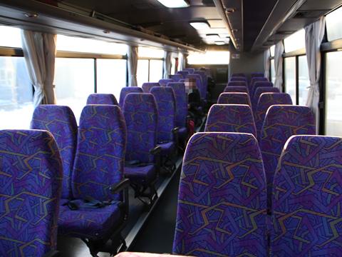 くしろバス「特急ねむろ号」 ・129 車内