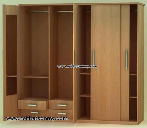 Tủ quần áo gỗ công nghiệp phủ Veneer-1
