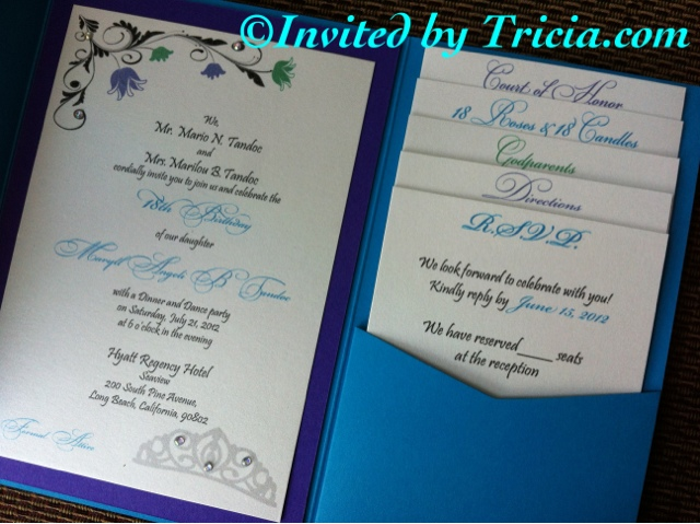 Invited by tricia events and design 18th birthday debut invitations 18th birthday debut invitations stopboris Image collections