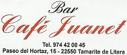 Bar Café Juanet